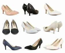 WOMENS LADIES PATENT HIGH STILETTO HEEL POINTED TOE OFFICE WORK COURT SHOES SIZE