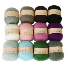 50g Skein Soft Angola Mohair Cashmere Wool Knitting Yarn Weaving Craft