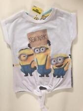 NEW GIRLS TIE FRONT MINIONS NEW YORK T SHIRT Despicable Me Primark Tee BNWT