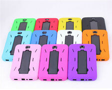 "Heavy Duty Hybrid Silicone Cover Hard Stand Case For Samsung Galaxy Tab3 4 7"" 8"""
