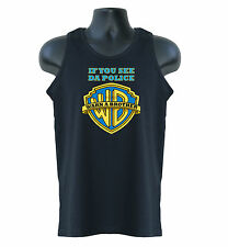 If You See Da Police, Warn A Brother Hip Hop Music Mens Tank Top Vests S-XXL