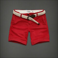 NWT Abercrombie & Fitch  Mens Preppy Fit Shorts Red All size [28~36] 0105-055