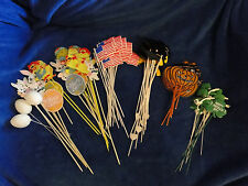 NEW GRADUATION, HALLOWEEN, EASTER, FLAGS, ST PATRICKS DAY,  FLORAL PARTY PICKS,