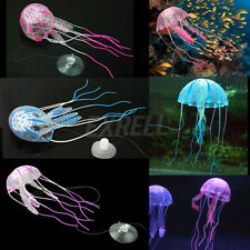 Lovely Glowing Effect Artificial Jellyfish Ornament Aquarium Fish Tank Decor