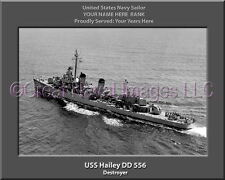 USS Hailey DD 556 Personalized Canvas Ship Photo Print Navy Veteran Gift