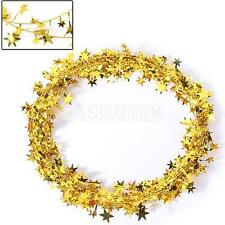 Vintage Glitter Star Wire Foil Tinsel Garland Christmas Xmas Party Decoration