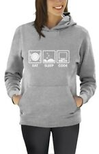 Eat Sleep Code - Funny Programmer Coder Women Hoodie Coding Geek Gift Idea