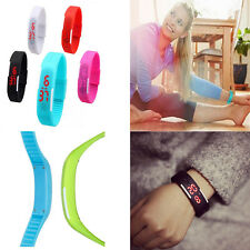 lot-High Quality Unisex Silicone LED Fashion Bracelet Touch Digital Wrist Watch