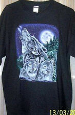 Wolfpack On A Cold Moonlit Night T Shirt Sz Sm - 6XL Love The Forest Wildlife