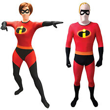 Incredibles Morphsuit - Mr Mrs Incredible morph suit fancy dress costume Adults
