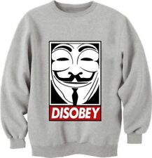 new disobey printed v for vendetta movie unisex swag sweatshirt obey dope grey