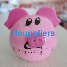 60-minute Mechanical Kitchen Timer Pig Rabbit Shape Countdown Gifts