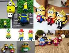 ★ Pendrive minion USB 2.0 Villano Favorito minions Pen drive 4 8 16 32 64 GB ★