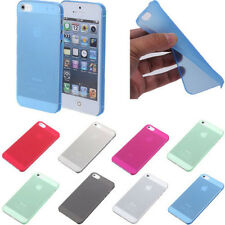 0.3mm Ultra Thin Slim Clear Matte Soft Hard Back Case Cover Skin For iPhone 5 5s