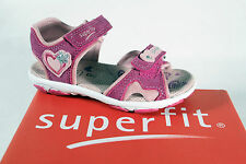 Superfit Girls Sandals pink/ rose, Leather footbed, flat new