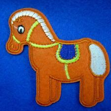2 Horse Little Pony Iron on Sew Patch Cute Applique Badge Embroidered Animal Lot