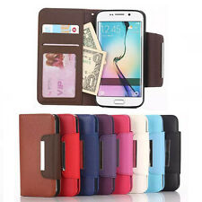 Practical Flip PU Leather Wallet Pocket Case Cover For Samsung Galaxy S6 Edge