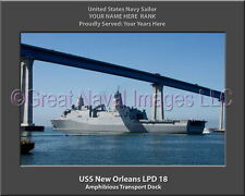 USS New Orleans LPD 18 Personalized Canvas Ship Photo Print Navy Veteran Gift