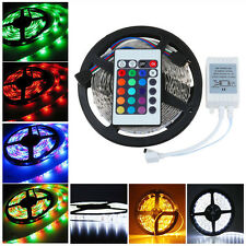 Waterproof 5M 3528 LED Strip Light Flexible Party Tape Lamp RGB Warm Cool White