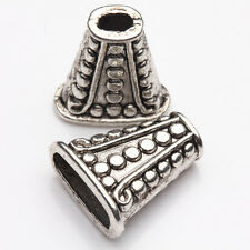 5/10Pcs Tibetan Silver Plated Carved Cone Shape Spacer Loose Bead Caps 18*8mm