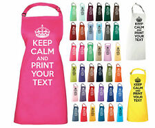 KEEP CALM AND PERSONALISE APRON YOUR TEXT NOVELTY COOKING APRON GIFT PRESENT