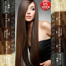 30% Off Clearance Sale Clip In Remy Human Hair Extensions Full Head US Stock A86