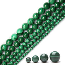 Natural Malachite Stone Gemstone Round Spacer Loose Beads Jewellery 4/6/8/10 MM
