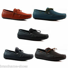 MENS SLIP ON LEATHER BOAT DECK SHOES CASUAL MEN'S EVERYDAY COMFORTABLE LOAFERS