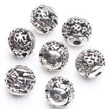 10/20Pcs Tibetan Silver Plated Crafts Round Spacer Hollow Beads Findings DIY 8mm