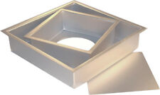 """Fat Daddio's Anodized Aluminum Square Cheesecake Pan with Loose Bottom, 3"""" High"""