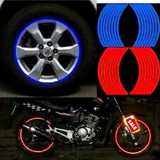 18 Strips Motorcycle Car Wheel Tire Stickers Reflective Rim Tape Free Shipping