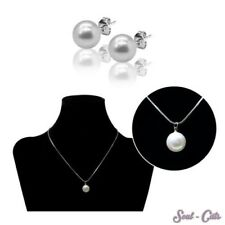 1 Set or separately String of pearls with Ear plugs Chain Studs Pearl Pendant