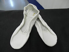 White leather Bloch S0205 full sole ballet shoes -  older child/adult sizes