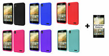 ZTE Warp Elite N9518 Rugged Silicone Gel Skin Phone Case + Free Screen Protectr