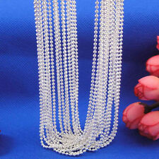 "Smart Wholesale lots Silver Plated 1mm Bead Ball Chain Necklace 16""- 30"""