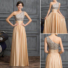 SEQUINS Women Bridesmaid Ball Prom Gown Formal Evening Party Cocktail Long Dress