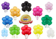"100 X 10"" Latex HELIUM MIX BALLOONS Quality Party Birthday Wedding Balloons"