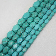 8x12-15x20mm Blue Turquoise cube faceted angle stone DIY Gemstone beads 15""