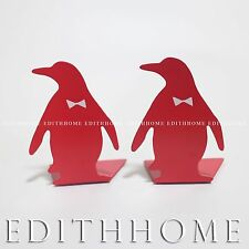 Mini Animals Penguin Metal Bookends / Book Stand for Kids 1pair (2pcs)