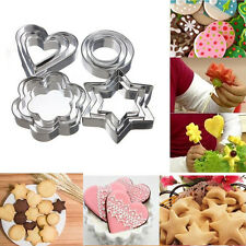 3pcs Stainless Steel Biscuit Cookie Cake Pastry Fondant Mold Mould Cutter Tool