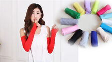 20 Colors Women Arm Cotton Long Fingerless Gloves Fashion Style Multifunctional