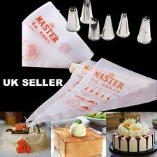Pastry Icing Piping Disposable Bags Nozzle Set Baking Tool Cupcake Decorating UK