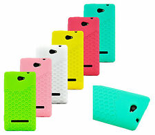 Honey Comb Soft Silicon Rubber Case Cover for HTC WINDOWS PHONE 8S Case