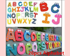 Wooden Fridge Magnet Alphabet numbers Kid Children Educational learning baby Toy