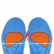 GEL Orthotic Support Insoles Heel Arch Foot Blisters Sport Pad Cushion