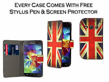 Union Jack Flag Leather Smart Stand Pu Case Cover For Samsung Galaxy Fame S6810