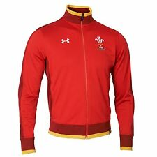 Under Armour Mens Wales Rugby Team Track Jacket Outerwear Top 15/16 Red