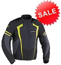 IXON AIRWAY JACKET TEXTILE WATERPROOF MOTORCYCLE JACKET BLACK FLURO #IXAIRWAYKYG
