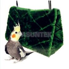 Bird Hammock Hanging Cave Cage Plush Snuggle Happy Hut Tent Bed Parrot Toy S M L