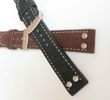 0 4/5in PILOT STRAP PILOT'S AVIATOR retro Style BRACELET MILITARY Suede LEATHER